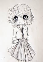 Inktober 27: Cute and Shy by L-L-arts