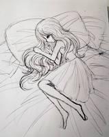 Inktober 28: Sleepless Nights by L-L-arts