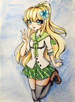 Green School Outfit (Gift) by L-L-arts