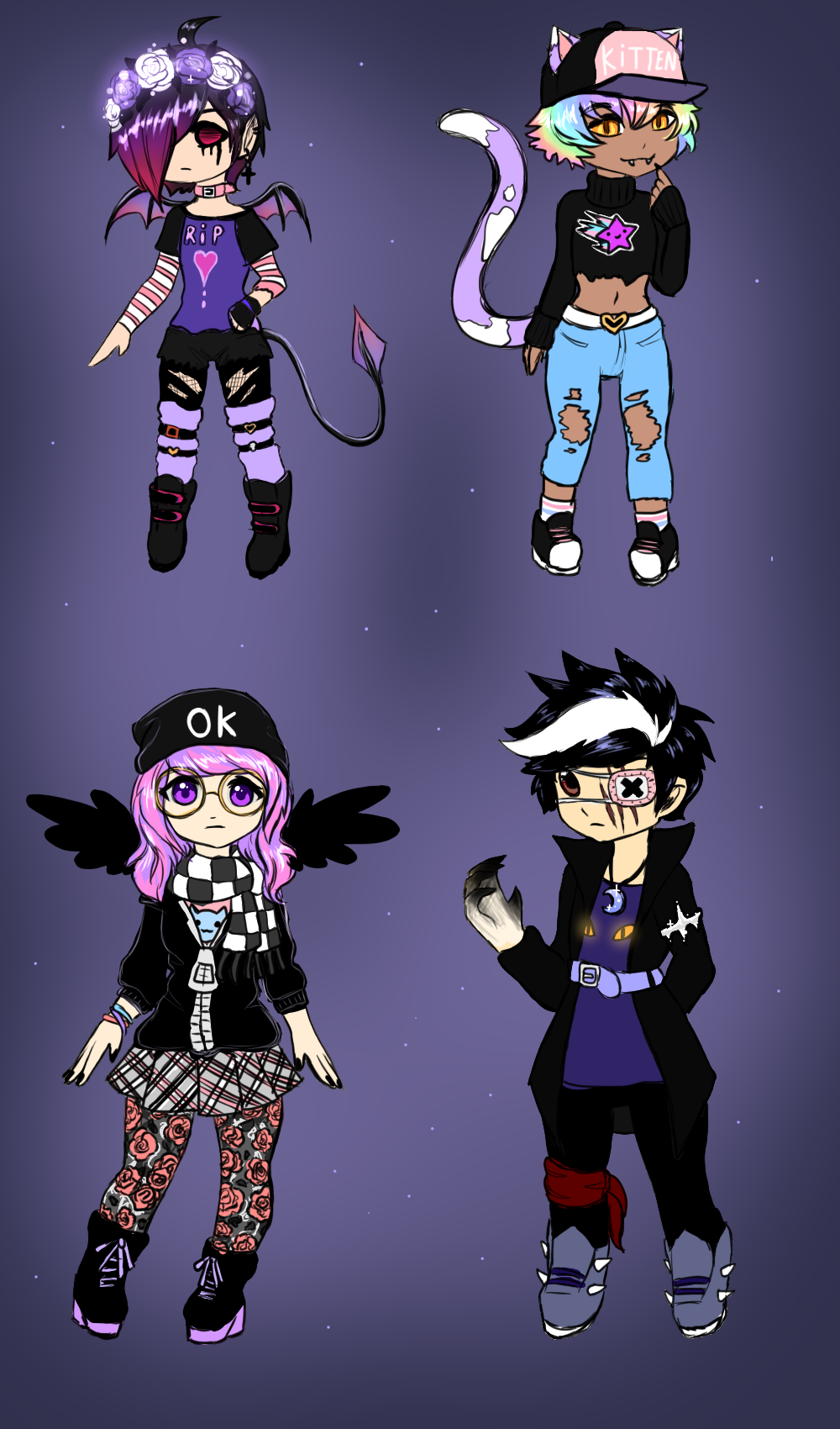 Humanoid Adopt Batch [OPEN] by L-L-arts