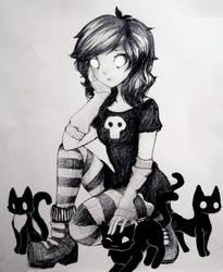 Black Cat by L-L-arts