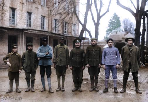 WW1 Allied prisoners (colorized)