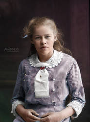 Nora Loothman, 1914, Sweden (colorized) by Anamnesisss