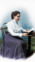 Woman reading, 1900