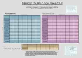 Character Balance Sheet 2.0 by ShaudaySmith