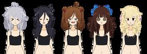 Kisekae Hair Exports ( Messy Edition )