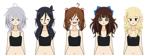 Kisekae Hair Exports ( Messy Edition ) by Pudding-Ze-Triggered