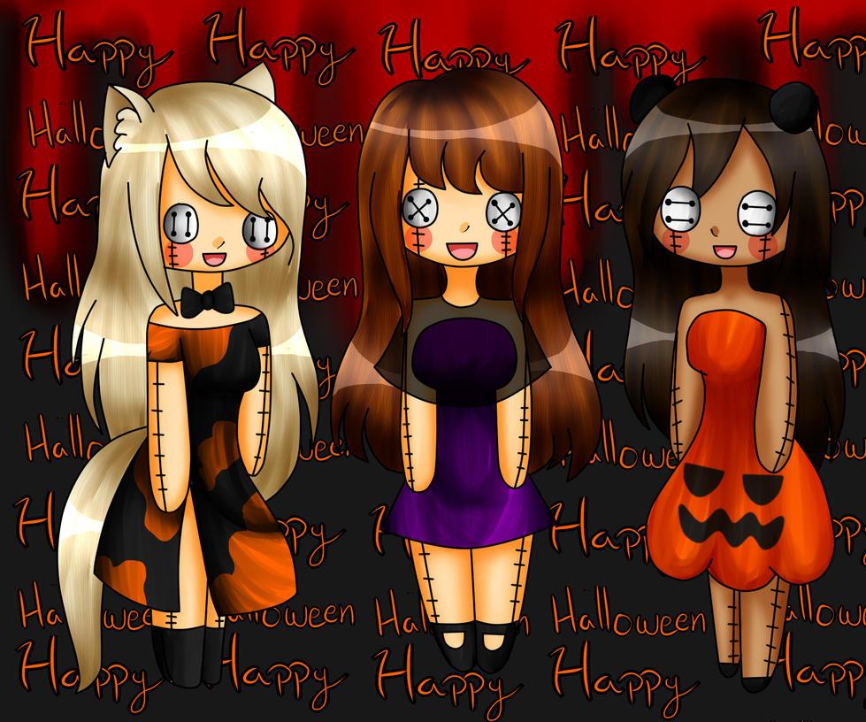 Concurso Halloween 2/3 .:Mar,Mei y Mari:. by PnMariana