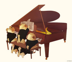 Piano Pug Quintet by kstearb