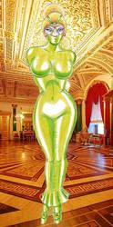Green Dress by osvaldogreco