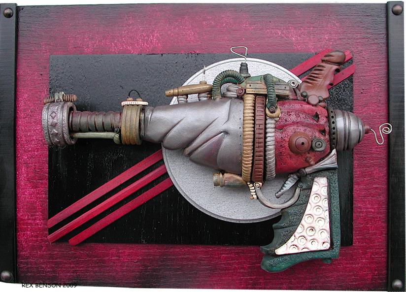 Rex Benson SteamPunk RayGun v2 by RexBenson