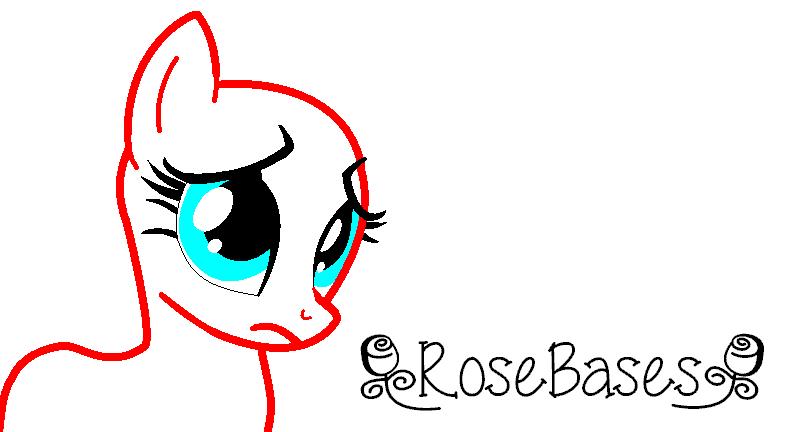 Sad Pony Base by RoseBases