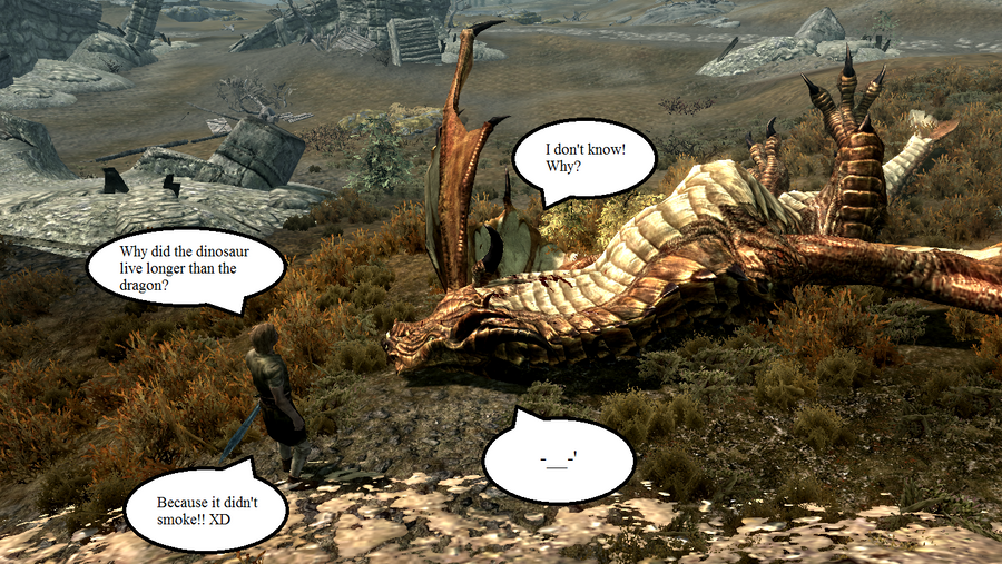 TES: Skyrim - Lame Dragon Joke by KxK-lover
