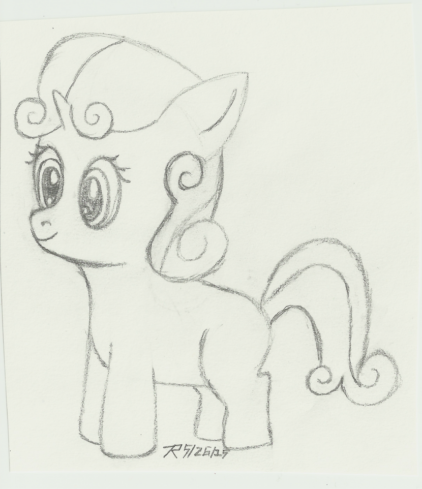 Sweetie Belle with a Bouffant... by Tails-155