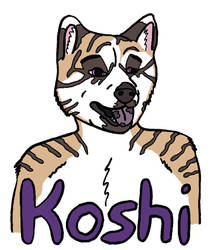 Koshi Badge for Bratcat420 by evilbookworm86