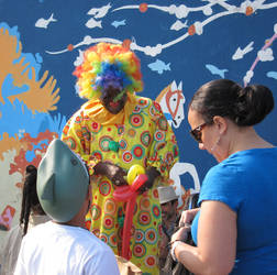Clown on Coney Island