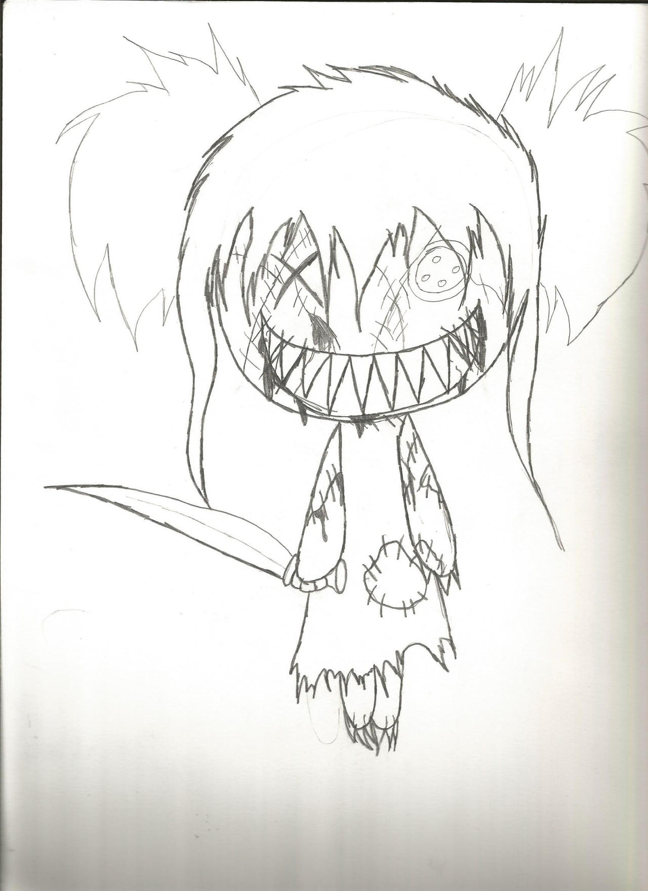 how to draw creepy things