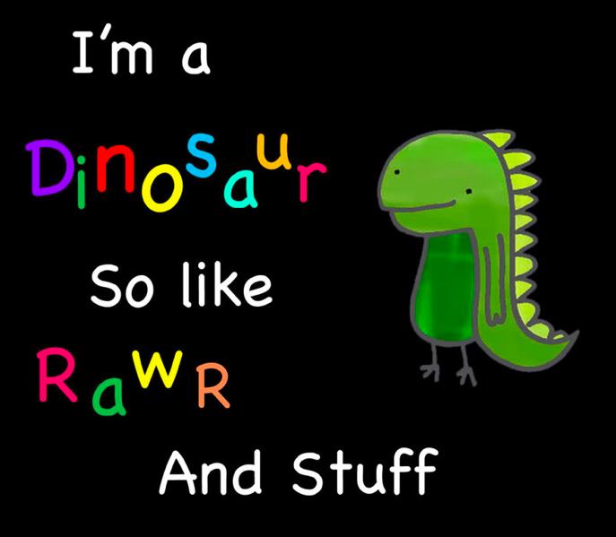 Dude Dino by maekitty333