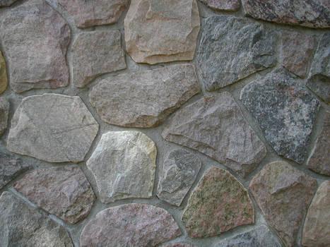rocks in a wall