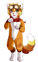 Shaded fullbody commission example(miyo the cat) by Vaporclaws
