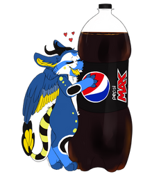 Hugging the pepsi[Gift] by Vaporclaws