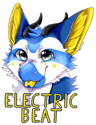 Electric beat badge [Commission] by Vaporclaws