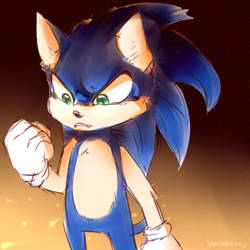 Sonic doodle by Vaporclaws