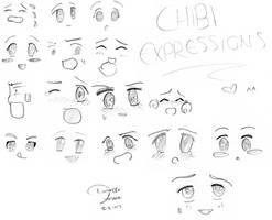 Chibi Expressions by eternalspirit1991