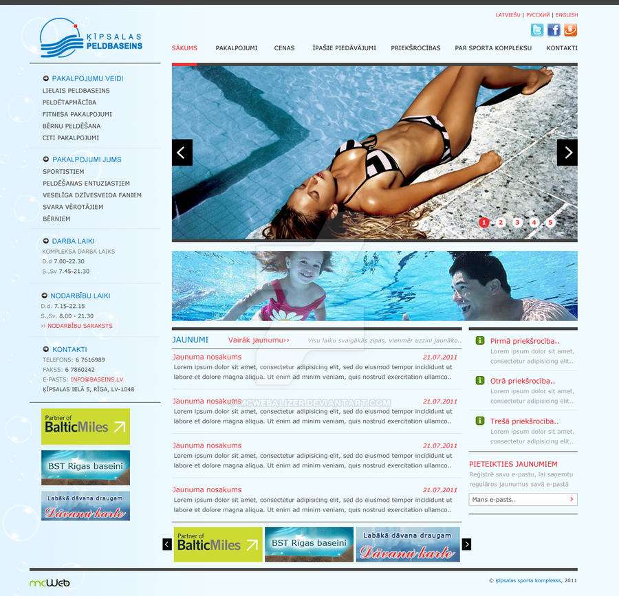 Swimming Pool Web Design By Mcwebalizer On DeviantArt