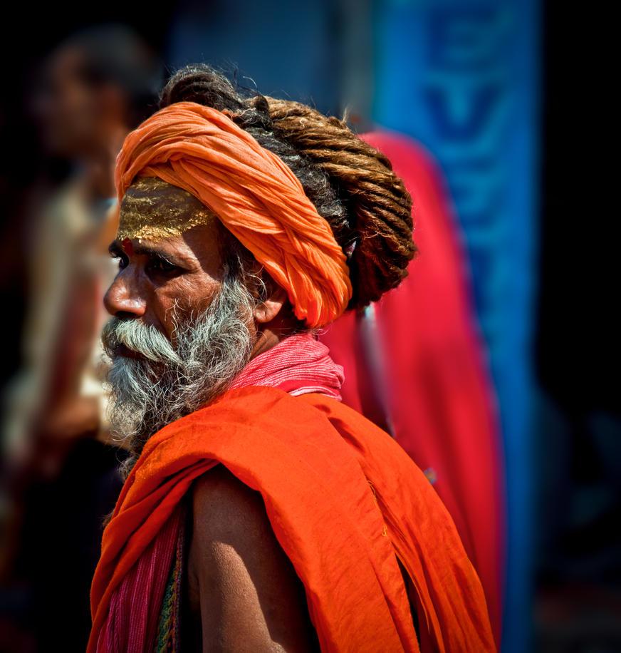 A Saffron Stare by Shreyas-Panambur