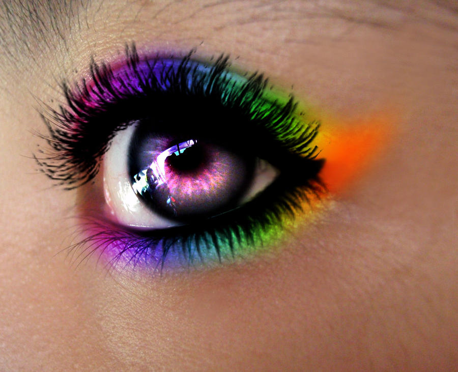 rainbow eyes by aaiiman on DeviantArt