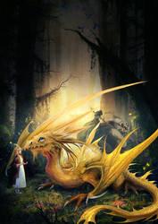 Dragon And Girl by irish-blackberry