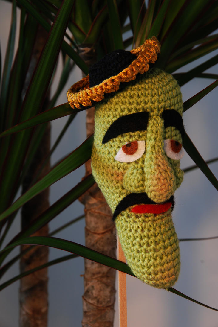 Jeff Dunham 's Jose Jalapeno (on a stick !) II by Ahookamigurumi