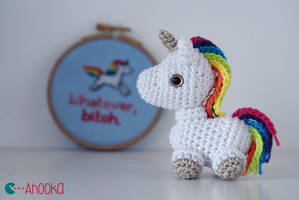Tiny unicorn crochet amigurumi (free pattern) by Ahookamigurumi