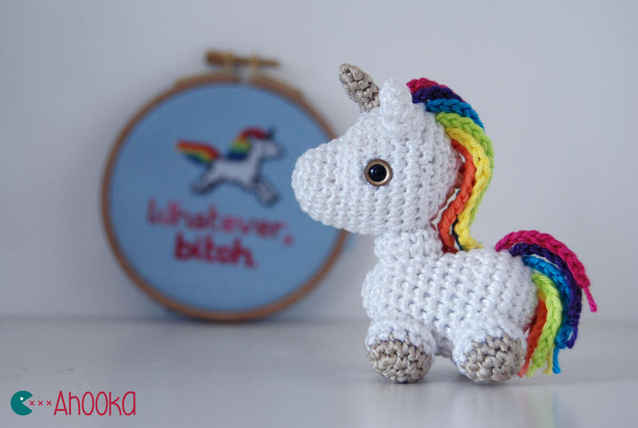 Tiny unicorn crochet amigurumi (free pattern) by Ahookamigurumi on ...