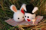 Valentine bunnies amigurumi