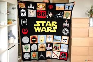 May the 4th be with u ! Star Wars crochet blanket by Ahookamigurumi