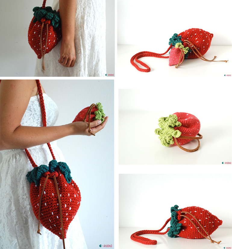 Strawberry Bag And Purse Crochet By Ahookamigurumi On Deviantart