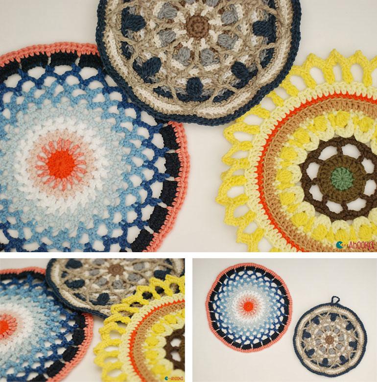 Crochet mandalas as a tribute for Wink by Ahookamigurumi