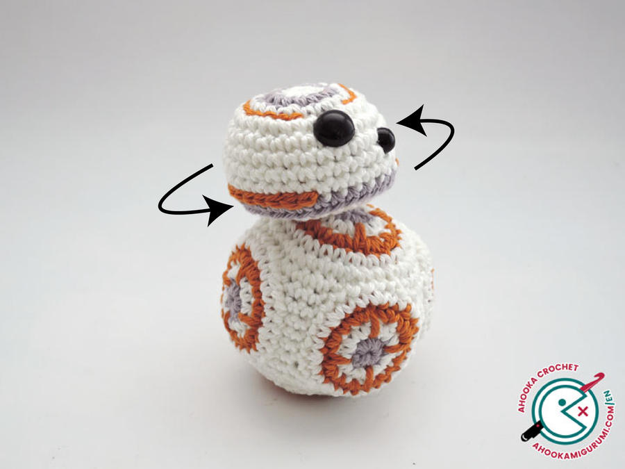 Crochet Amigurumi Head : BB8 amigurumi with movable head ! by Ahookamigurumi on ...