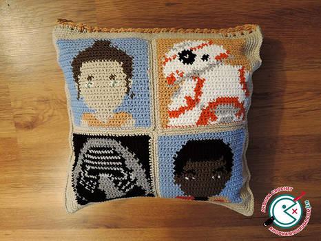 Star Wars The Force Awakens Crochet Cushion