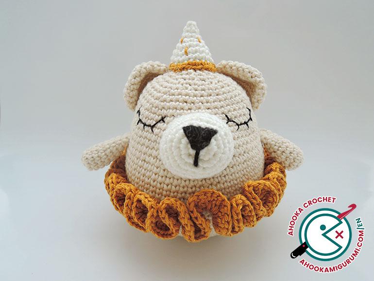Paula Bear by Ahookamigurumi
