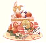 BUNNY SHORT CAKE by nairchan