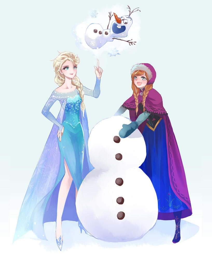 Do you want to build a snowman by nairchan on deviantart for I want to make a snowman