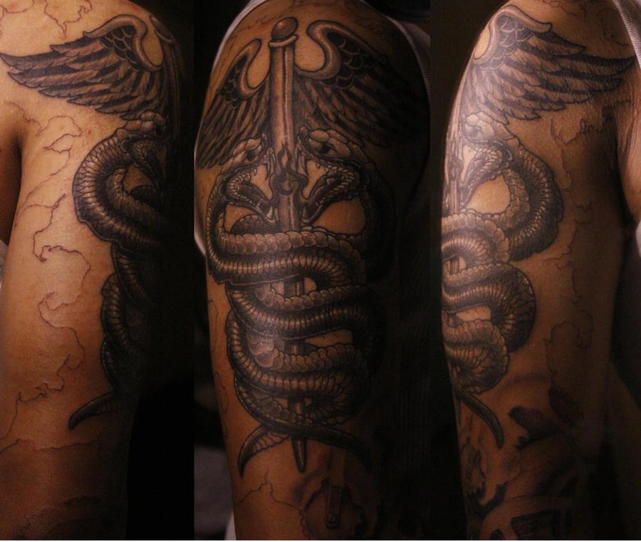 medical caduceus tattoo by brendeliscool on deviantart