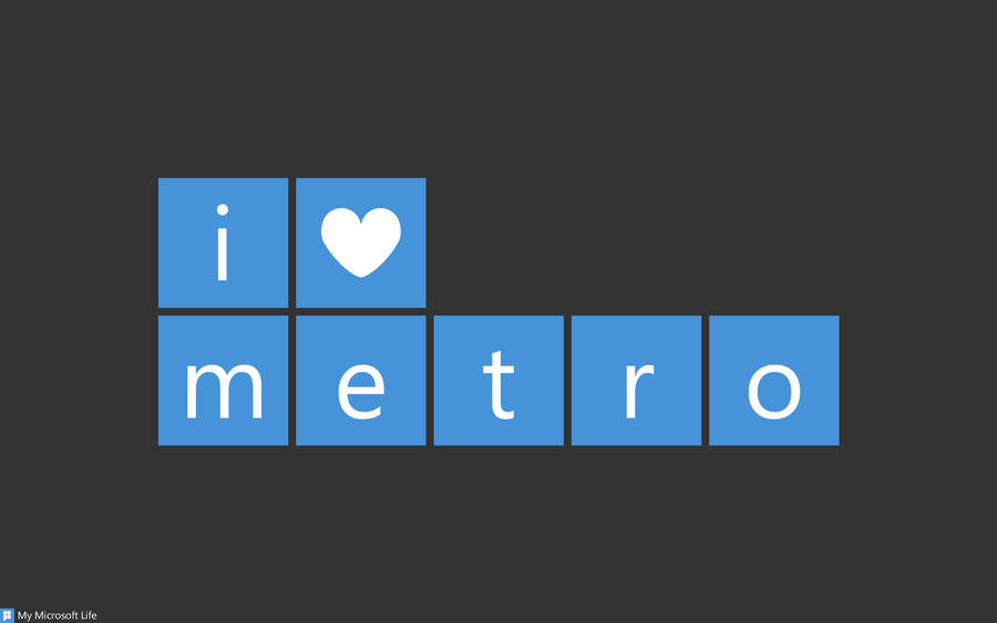 I heart metro Blue - Dark by mymicrosoftlife