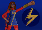 Ms. Marvel by CaptainCartooner