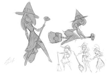 Tappy Witch Sketches by AmazingTrout