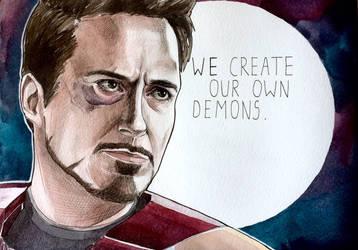 A totally different Tony Stark  by Razum22