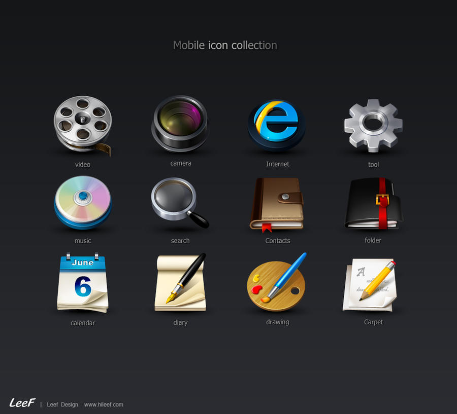 Mobile icon collection by hileef